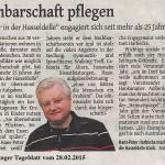 Solinger Tageblatt berichtet über unseren Verein