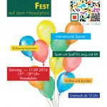 Nachbarschaftsfest am 17. September 2016
