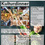 Einladung zum Kulturdinner