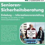 Einladung zur Senioren - Sicherheitsberatung